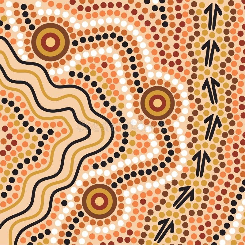 Fundo aborígene do estilo ilustração do vetor