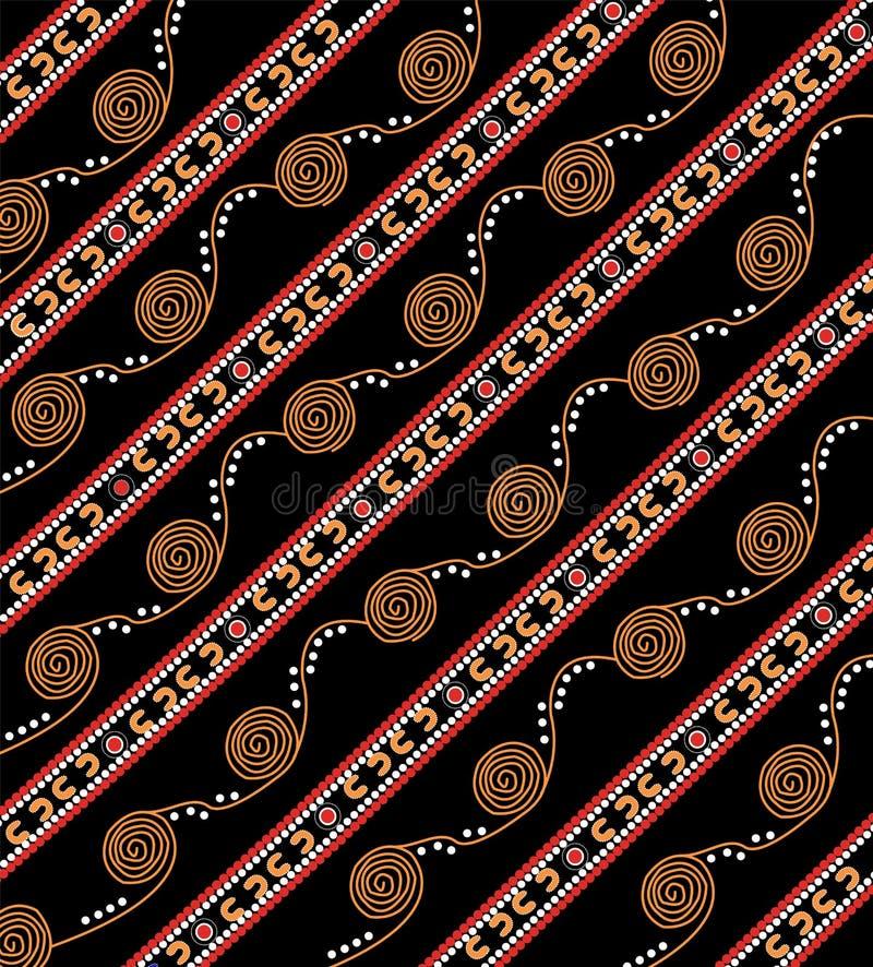 Fundo aborígene do vetor da arte ilustração stock