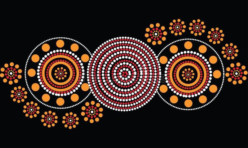 Fundo aborígene do vetor da arte ilustração royalty free