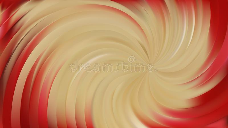 Fundo Abstract Beige and Red Swirl ilustração do vetor