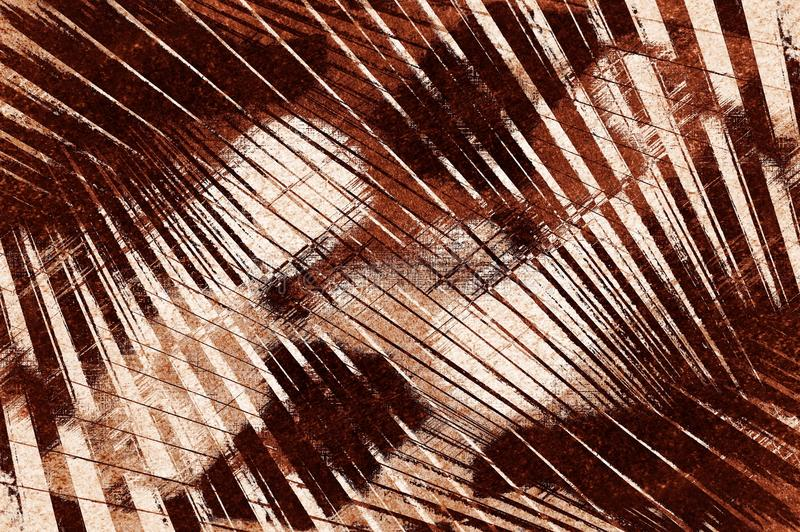 Fundo abstrato áspero do teste padrão do marrom do grunge da arte ilustração stock