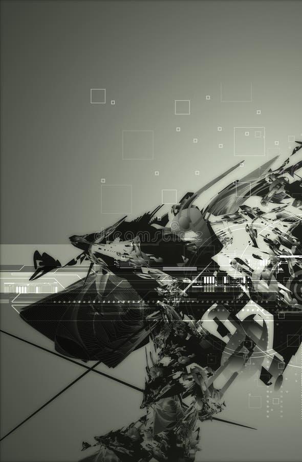 Fundo abstrato 2 da tecnologia ilustração do vetor