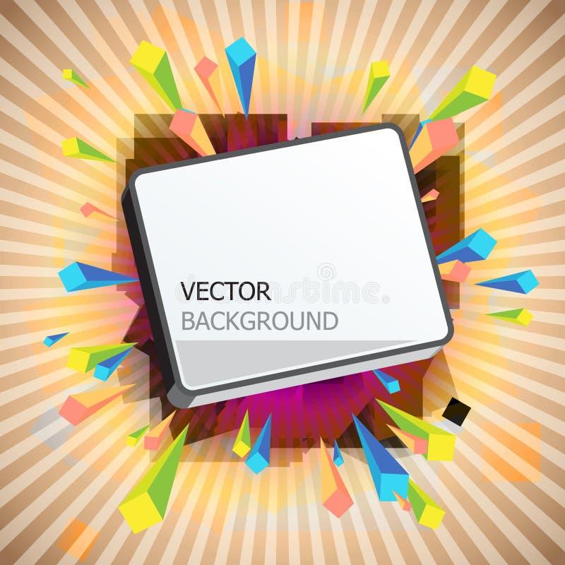 Fundo abstrato ilustração do vetor