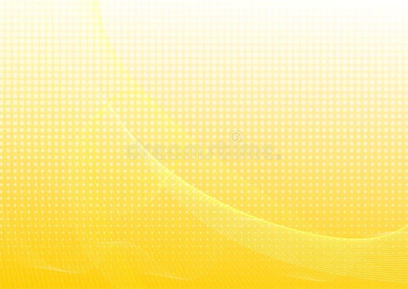 Fundo abstrato amarelo com ondas ilustração do vetor