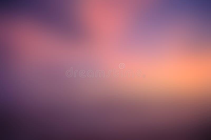 Fundo abstrato amarelo roxo alaranjado do borr?o cor-de-rosa azul fotos de stock