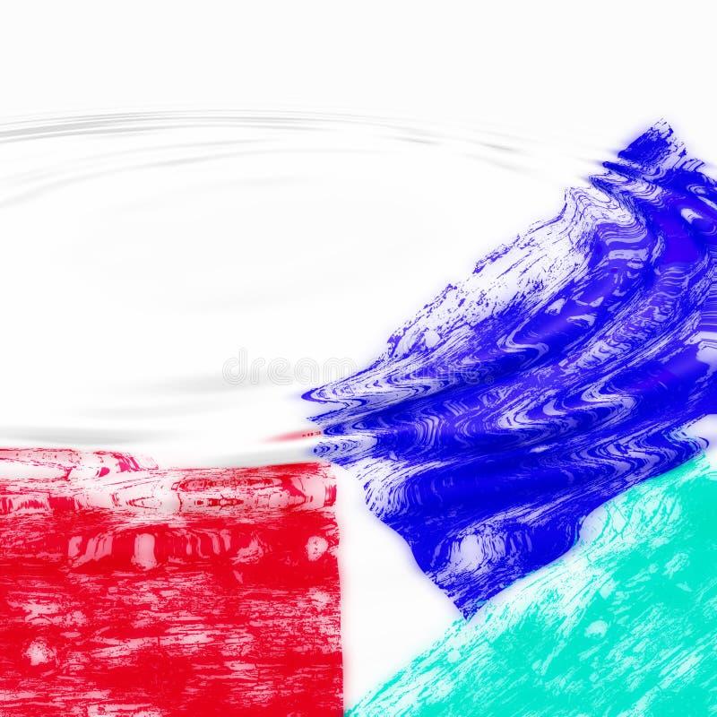 Fundo abstrato aquoso ilustração do vetor