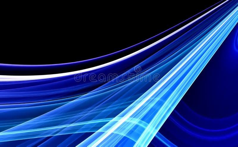 Fundo abstrato azul ilustração royalty free