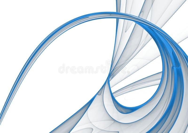 Fundo abstrato azul & branco ilustração royalty free