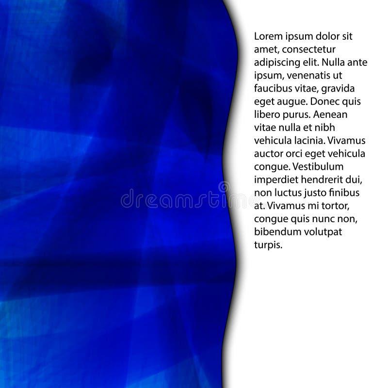 Fundo abstrato azul com espaço para o texto fotografia de stock