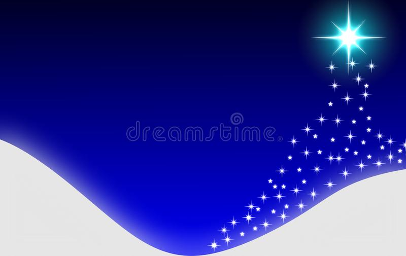 Fundo abstrato azul da árvore de Natal ilustração royalty free