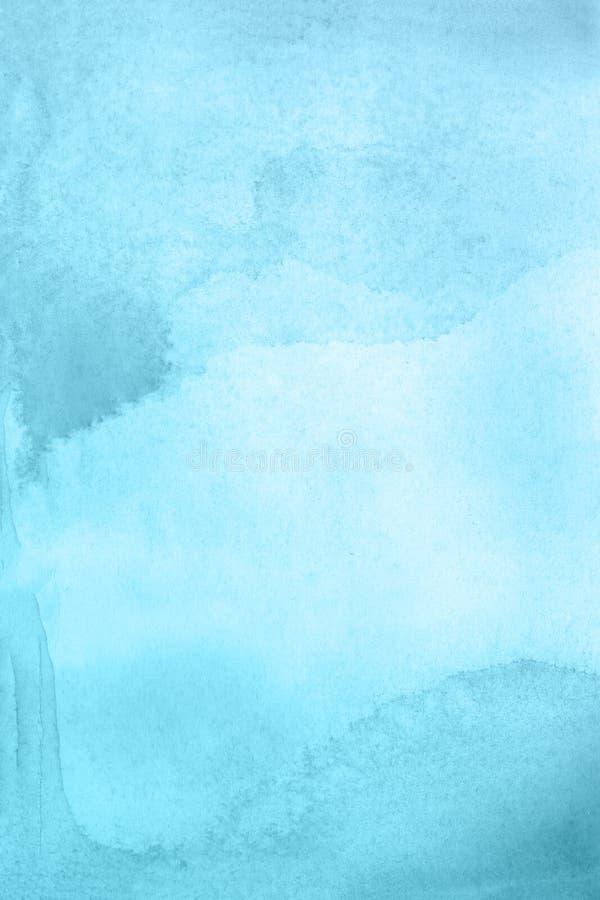 Fundo abstrato azul da aguarela ilustração royalty free