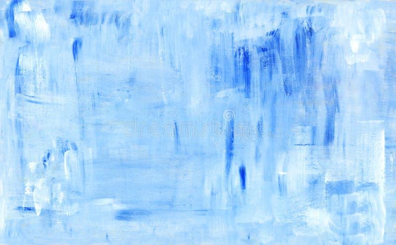 Fundo abstrato azul da pintura ilustração royalty free