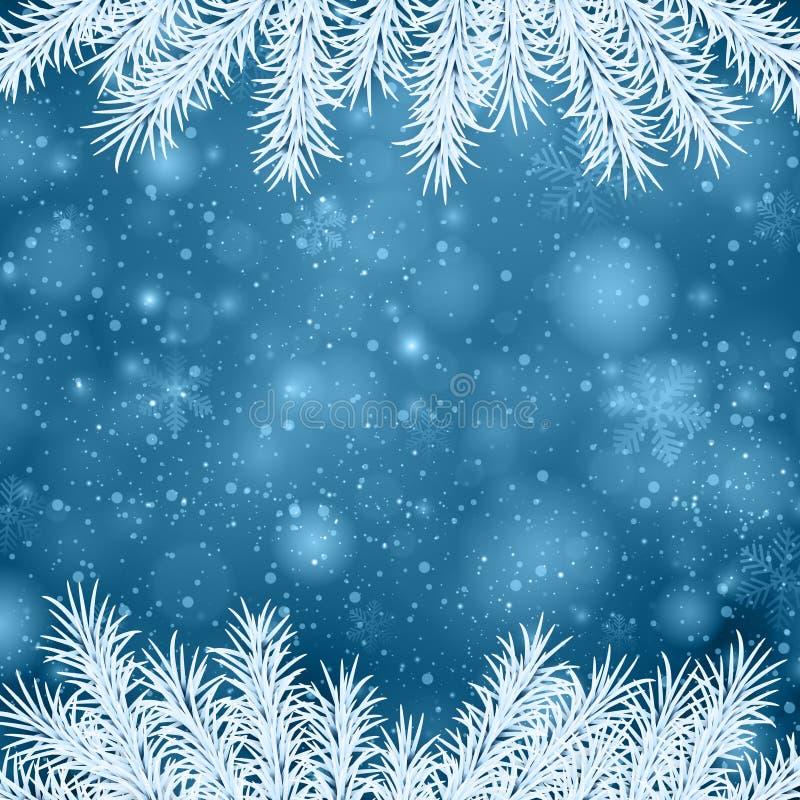 Fundo abstrato azul do Natal. ilustração royalty free