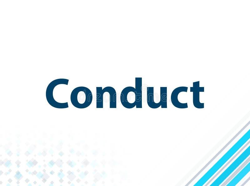 Fundo abstrato azul do projeto liso moderno da conduta ilustração stock