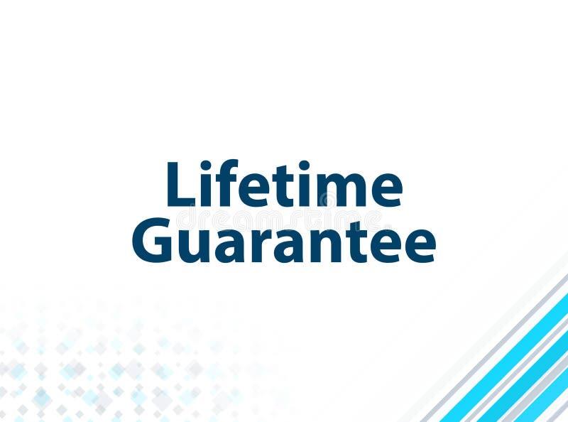 Fundo abstrato azul do projeto liso moderno da garantia da vida ilustração royalty free
