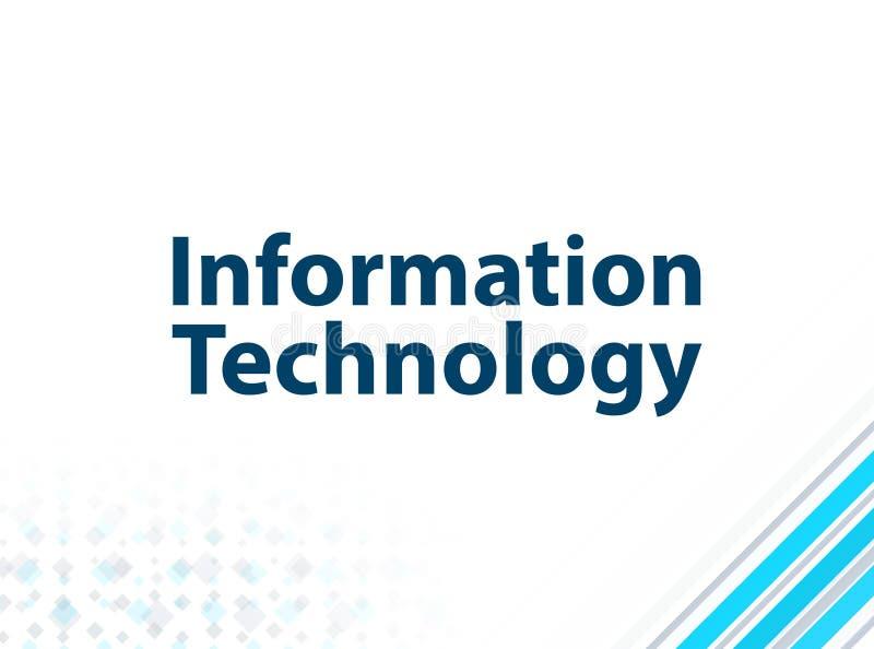 Fundo abstrato azul do projeto liso moderno da tecnologia da informação ilustração stock