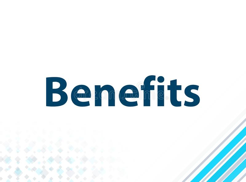 Fundo abstrato azul do projeto liso moderno dos benefícios ilustração stock