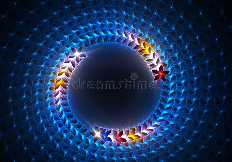 Fundo abstrato azul do redemoinho ilustração do vetor