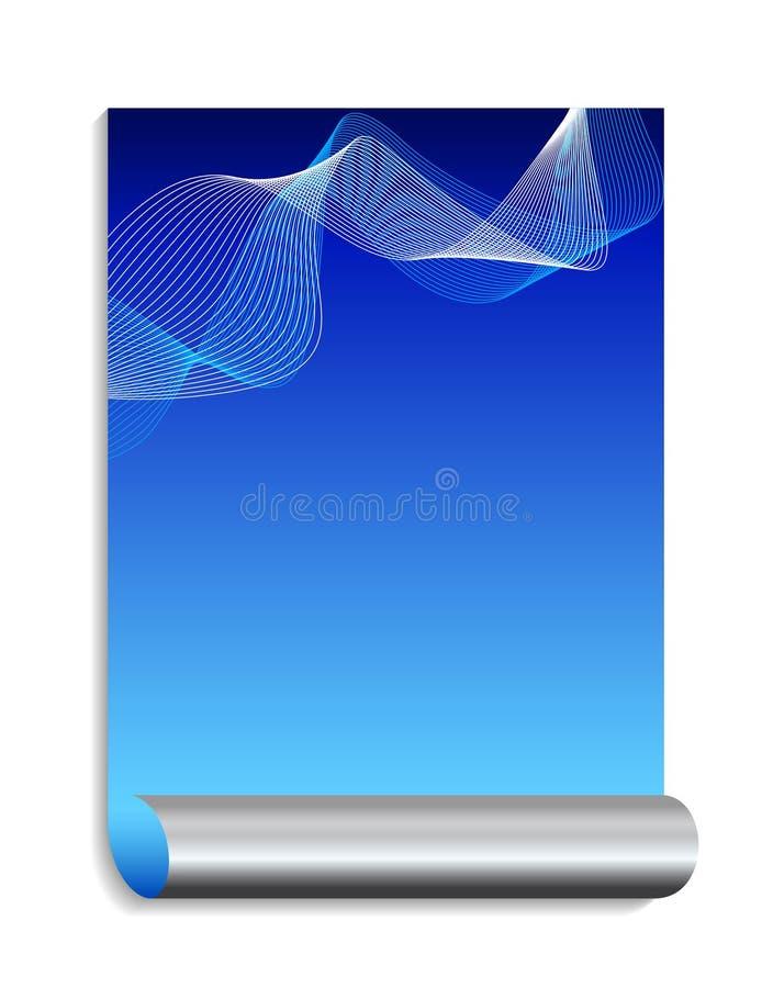 Fundo abstrato azul e de prata ilustração royalty free