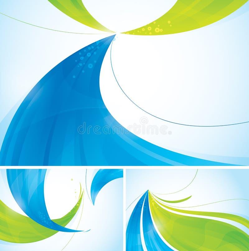 Fundo abstrato azul e verde ilustração royalty free