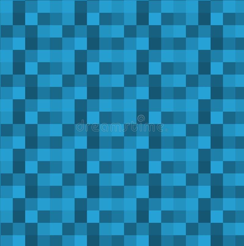 Fundo abstrato azul geométrico quadrado Vetor ilustração royalty free