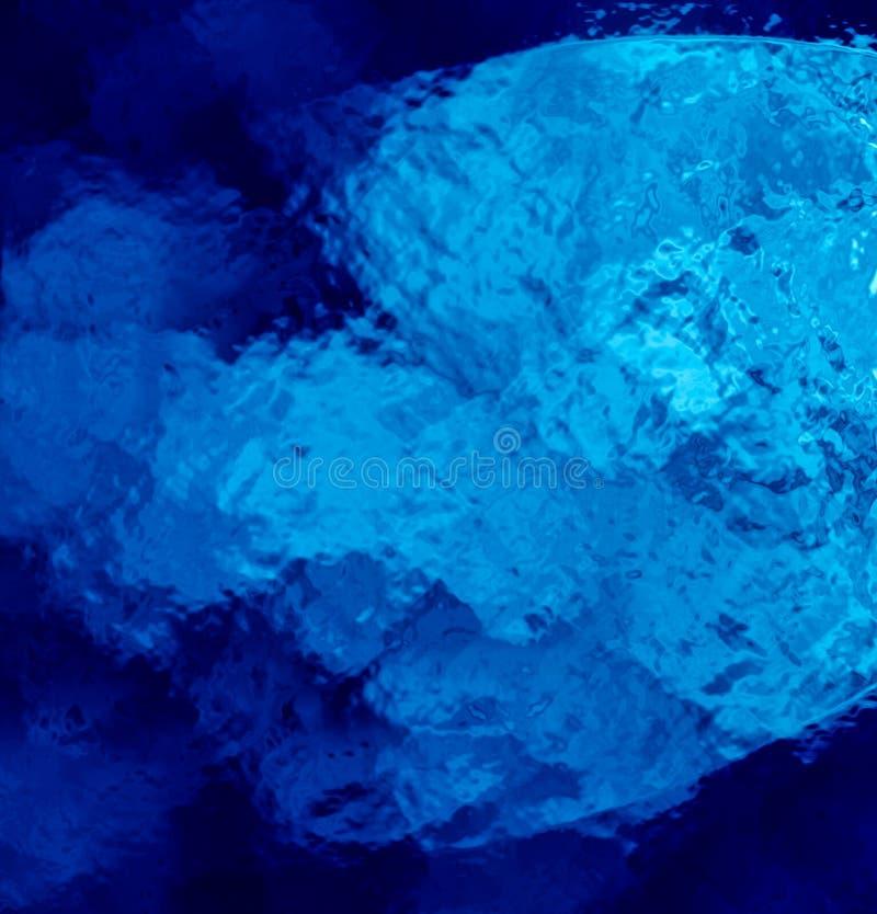 Fundo abstrato azul moderno com efeito de vidro ilustração stock