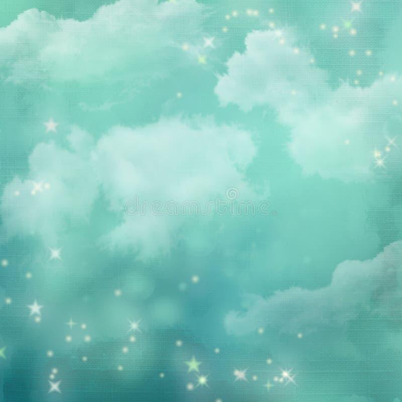 Fundo abstrato azul Mystical. ilustração do vetor
