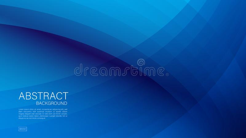 Fundo abstrato azul, onda, vetor geométrico, textura gráfica, mínima, projeto da tampa, molde do inseto, bandeira, página da  ilustração stock