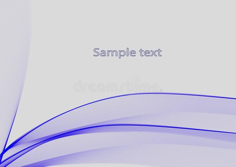 Fundo abstrato azul para seu projeto ilustração royalty free