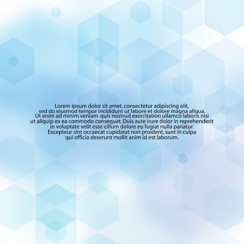 Fundo abstrato azul poliedros geométricos Disposição de propaganda - Vektorgrafik ilustração royalty free