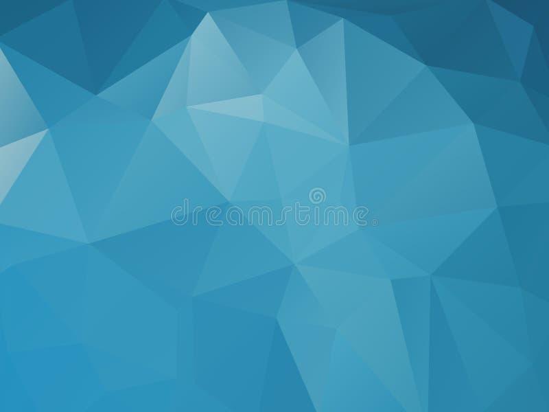 Fundo abstrato azul triangular ilustração royalty free