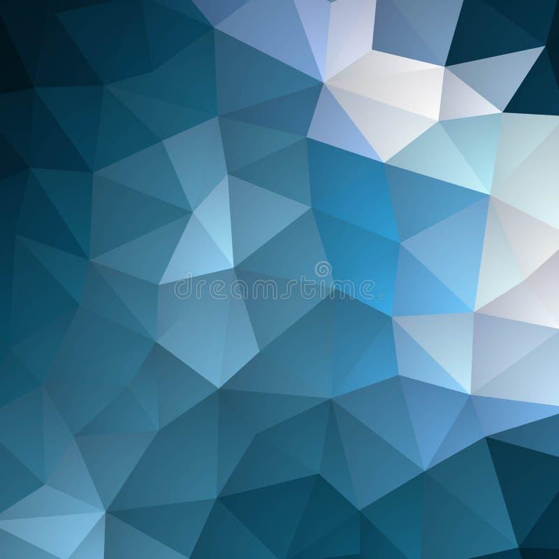 Fundo abstrato azul triangular Molde para a apresenta??o Disposi??o para anunciar Eps 10 ilustração do vetor