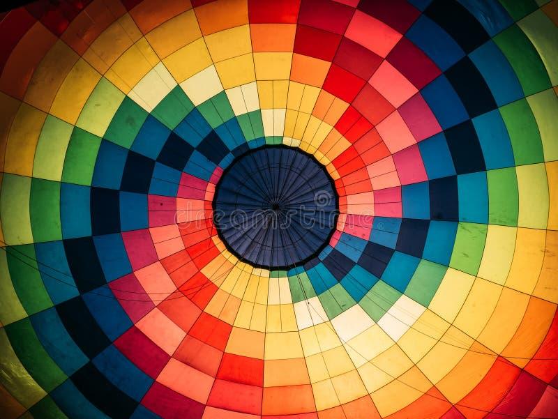 Fundo abstrato, balão de ar quente colorido interno imagens de stock royalty free