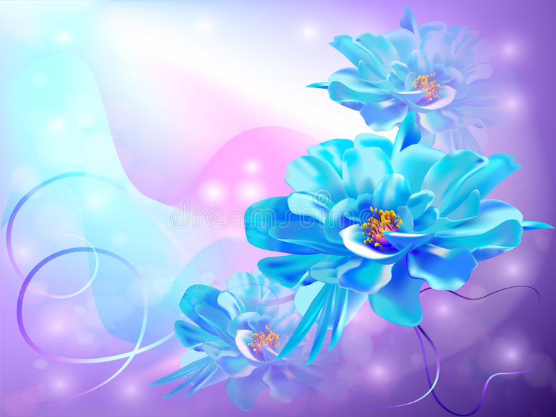 Fundo abstrato bonito com flores ilustração do vetor