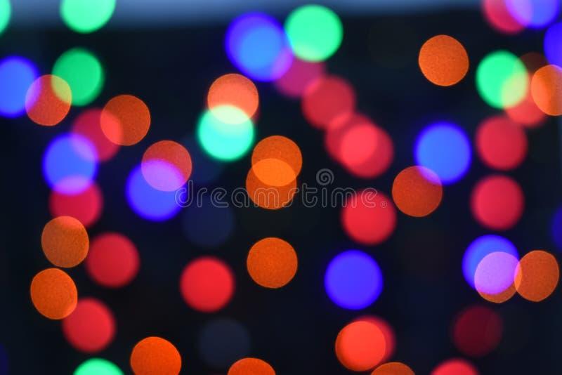 Fundo abstrato borrado da estrela bokeh colorido Conceito do partido do Natal e do ano novo fotografia de stock