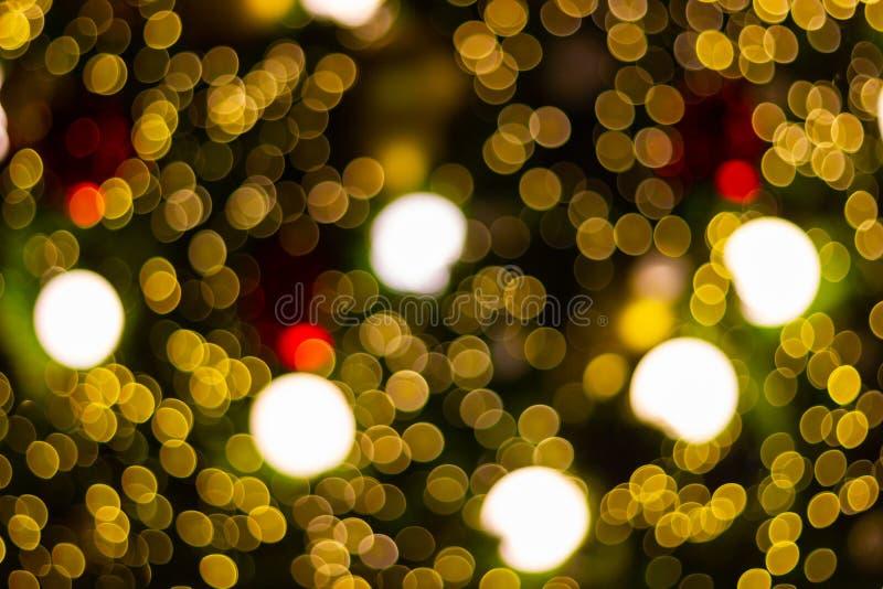Fundo abstrato borrado do bokeh para decorações para festividades, o ano novo e os feriados imagens de stock
