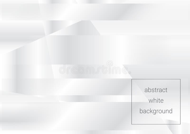 Fundo abstrato branco com listras transparentes ilustração royalty free