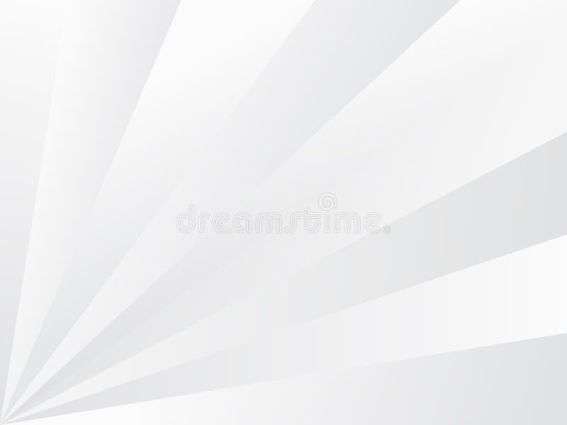 Fundo abstrato branco com os raios cinzentos que irradiam-se do tex de canto ilustração do vetor