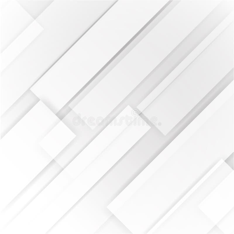 Fundo abstrato branco e cinzento ilustração do vetor