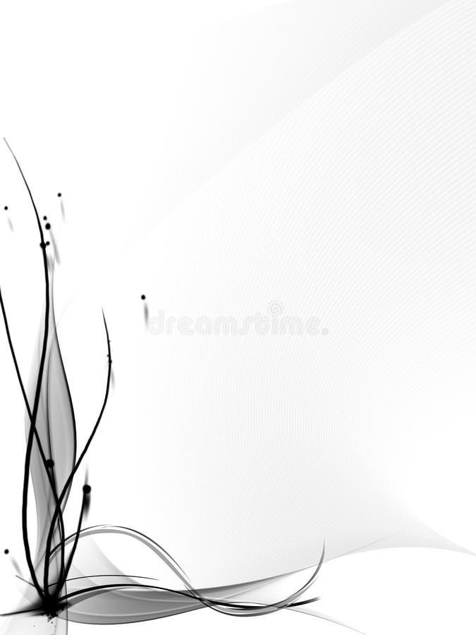Fundo abstrato branco e preto ilustração do vetor