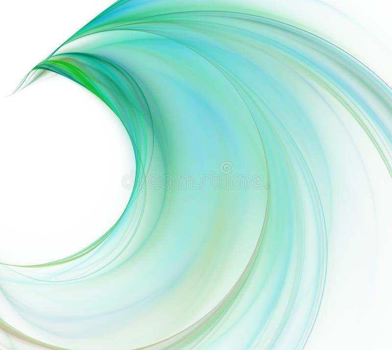 Fundo abstrato branco Wi frescos grandes da onda do verde e da turquesa ilustração royalty free
