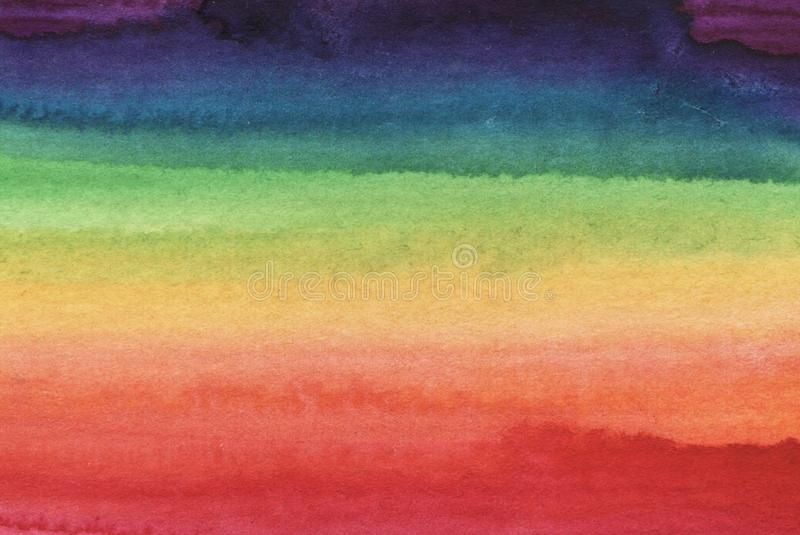 Fundo abstrato brilhante do arco-íris da aquarela ilustração royalty free