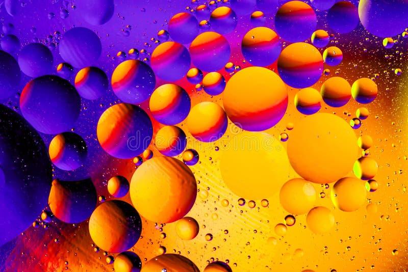 Fundo abstrato cósmico do universo do espaço ou dos planetas Sctructure abstrato do átomo da molécula Bolhas da água Tiro macro d imagens de stock royalty free