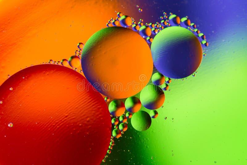 Fundo abstrato cósmico do universo do espaço ou dos planetas Sctructure abstrato do átomo da molécula Bolhas da água Tiro macro d foto de stock