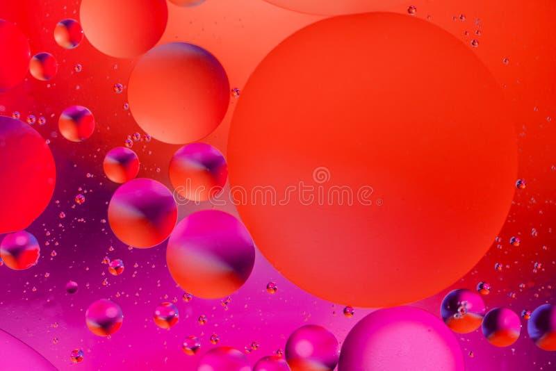 Fundo abstrato cósmico do universo do espaço ou dos planetas Sctructure abstrato do átomo da molécula Bolhas da água Tiro macro d imagem de stock royalty free