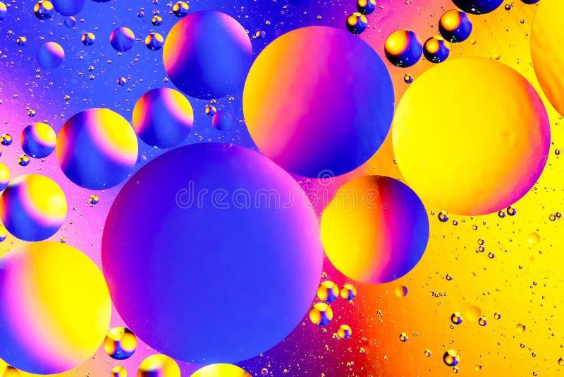 Fundo abstrato cósmico do universo do espaço ou dos planetas Sctructure abstrato do átomo da molécula Bolhas da água Tiro macro d fotos de stock royalty free