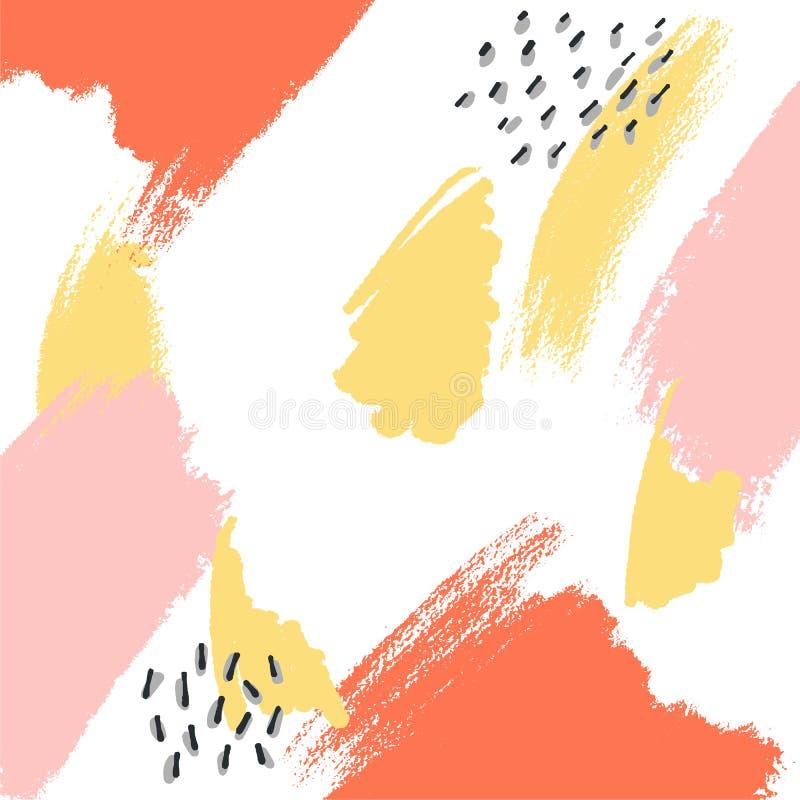Fundo abstrato calmo colorido brilhante pastel macio para o projeto Efeito do papel da textura da aquarela Illustratiom do vetor ilustração royalty free