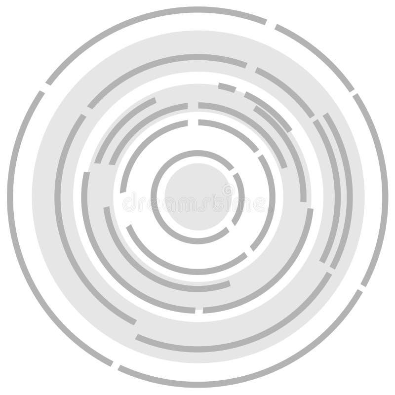 Fundo abstrato circular no fundo branco ilustração royalty free