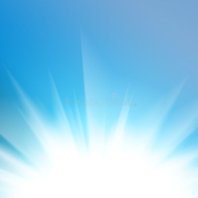 Fundo abstrato claro azul liso ilustração stock