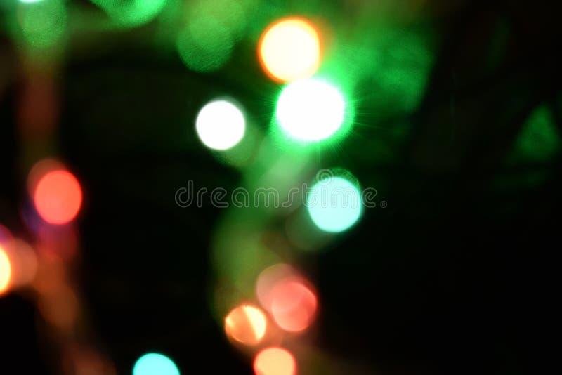 Fundo abstrato claro de Bokeh Remendos de Varicoloureds da luz para o fundo fotografia de stock